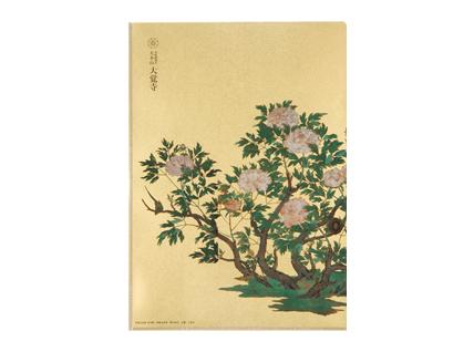 金色クリアファイル(牡丹図)