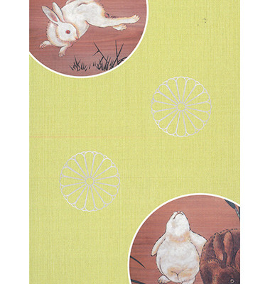 野兎図(黄緑)表②