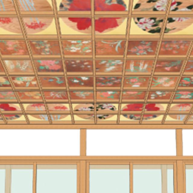 『蓮華殿』天井絵 「華曼荼羅」